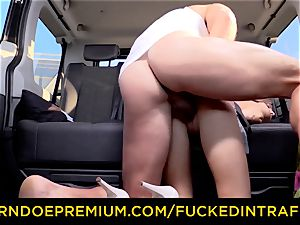 ravaged IN TRAFFIC nubile Gina Gerson hotwife car fucky-fucky