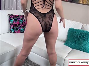 Aaliyah enjoy inhales and boink a gigantic spunk-pump in point of view fashion
