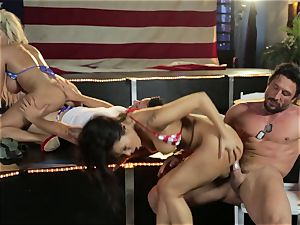 Asa Akira and Bridgette B give a special display