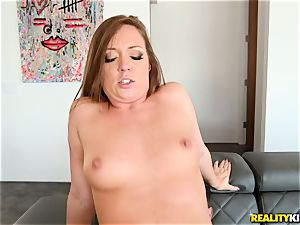 jizm gulping man meat dickblower Maddy OReilly sits her cunt on a meaty stiffy