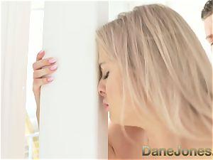 Dane Jones blonde stunner vag licking orgasm suck off