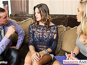 sweetie Carmen McCarthy and Nicole Aniston satisfy him together