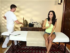 Ava Addams in the massage room