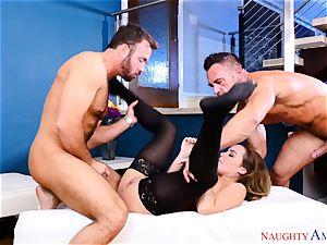 Natasha nice toying with two cocks