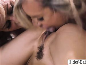 three broads Cherie DeVille, Alexis Fawx and Brandi enjoy torrid gang fuckfest
