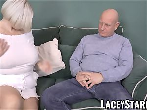 LACEYSTARR - big-titted GILF negotiates a good cooter deal