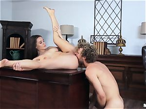 Lana Rhoades getting jiggish in the office