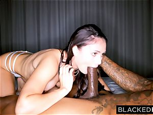 BLACKEDRAW wild dark haired wife likes black manstick in her motel room