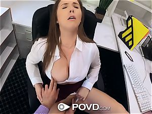 super-sexy secretary deep-throats and pulverizes for a promotion