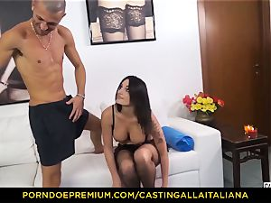 audition ALLA ITALIANA - Blue-eyed woman gets rump fucked