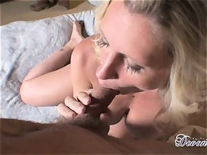 Devon Lee is liking her man's whip wedged in her juicy jaws