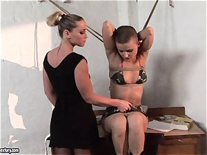 Kathia Nobili and C J stunner strapping of forearms