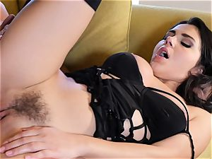 Valentina Nappi inserted in her moist pussyhole