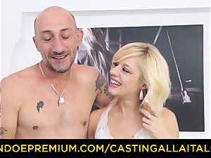 audition ALLA ITALIANA super-fucking-hot ash-blonde unloads in stiff ass fucking