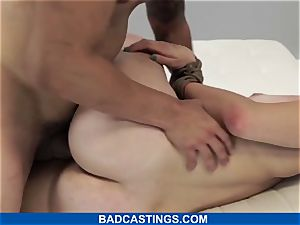 nubile Debutant Gets strapped and plowed stiff on BadCasting