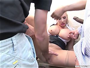 admirers smoking group paw jack with Michelle Thorne