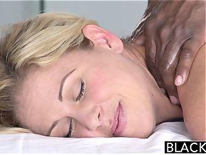 BLACKED hot Southern platinum-blonde Takes meaty ebony manstick