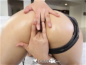 Exotic4k japanese Lea Hart pulverize and facial cumshot by yam-sized spear