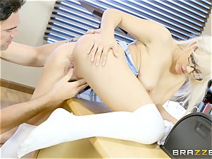 nasty college girl Kylie Page pokes her teacher
