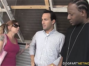 Scarlett pain tears up big black cock but her parent doesn't like it