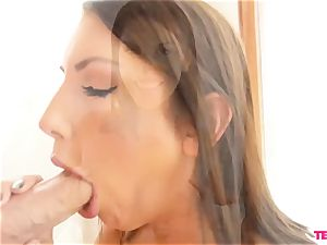 August Ames milks slowly And Closely