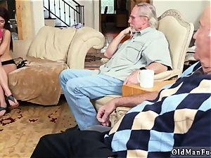 senior bisexual duo and fellow vs youthful rectal Maximas Errectis