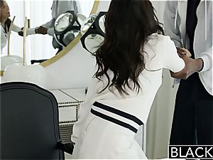 BLACKED Megan Rains very first experience With fat dark-hued stiffy Part 1