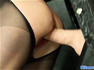 WAM female dominance all girl pusyfucking at the gloryhole