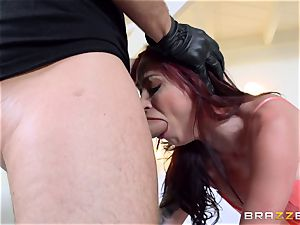 sandy-haired wife Monique Alexander gets pulverized in front of her hubby