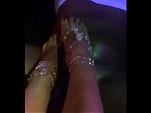 ADULTWORK british prostitute cougar GIVES bbc splendid FOOTJOB WITH happy finishing