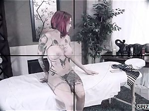 Spizoo - Anna Bell Peaks is smashed by a ginormous dick