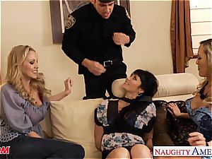 big-boobed moms Brandi enjoy, Eva Karera and Julia Ann plows