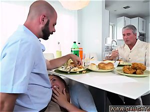 mom tempts ally companion s daughter in bathroom hd Alyssa Gets Her Way With father s