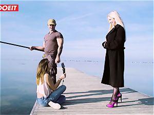 LETSDOEIT - platinum-blonde Thot porked rigid By the Beach