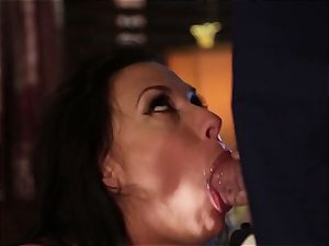 Rachel Starr boning an unexpected visitor