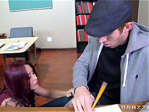 instructing stunner Monique Alexander pounds her biggest dicked college girl