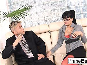 Aletta Ocean gets anally pulverized on the sofa