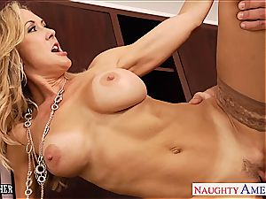 milf romp educator Brandi love fuckin' a yam-sized pecker