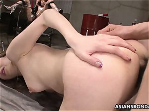 asian gangbanged while limited superslut watches the flash