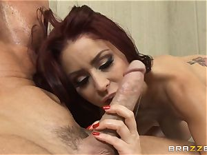 Monique Alexander porks her worker in a sauna