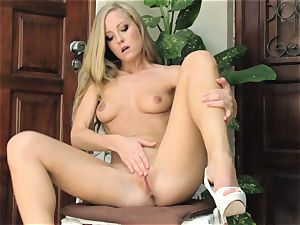 super-steamy ash-blonde Sicilia Model naked chair onanism