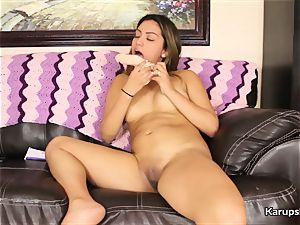 Nicole Rey Solo fucking With dildo
