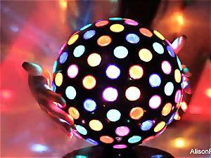 spectacular enormous boobed disco ball stunner