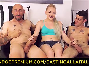 CASTNG ALLA ITALIANA - blonde vixen rough double penetration fuck-a-thon
