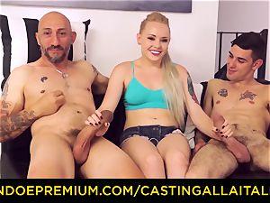CASTNG ALLA ITALIANA - blonde vixen rough double penetration fuck-a-thon