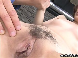 Masturb chinese babe with fucktoy and love