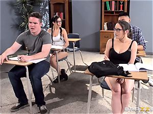 huge-titted schoolteacher Ava Addams is nailed by her college girl
