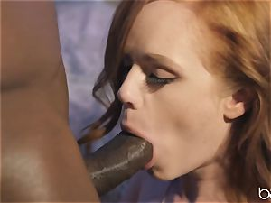big black cock for mischievous red-haired Ella Huhges