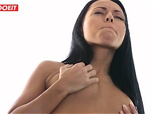 voluptuous lesbian douche hump with Czech dark haired honies