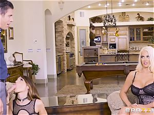 jizzswapping lovelies Adriana Chechik and Nicolette Shea romped deep